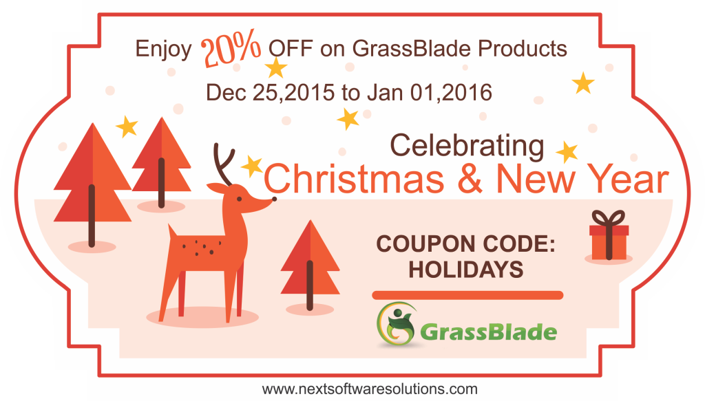 Holidays Sale on GrassBlade