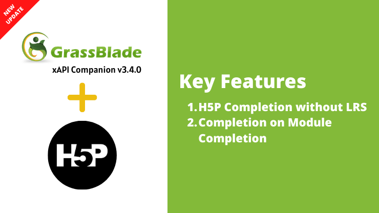 GrassBlade xAPI Companion v3.4.0 – Track H5P Completion without LRS